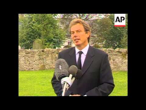 UK - Tony Blair speaks of Diana's death
