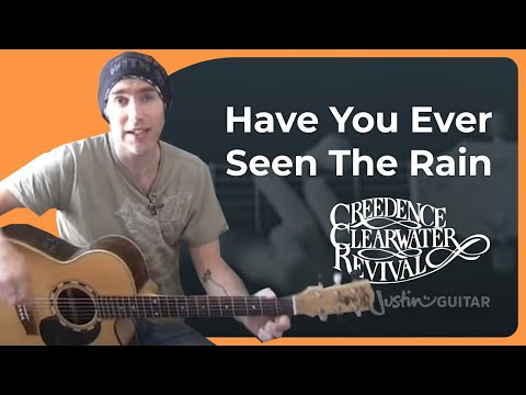 Have You Ever Seen The Rain - Creedence Clearwater Revival (Songs Guitar Lesson BS-902) How to play