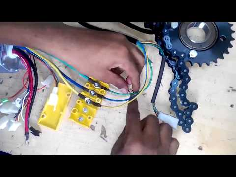 how to connect dc motor with riskaw van.
