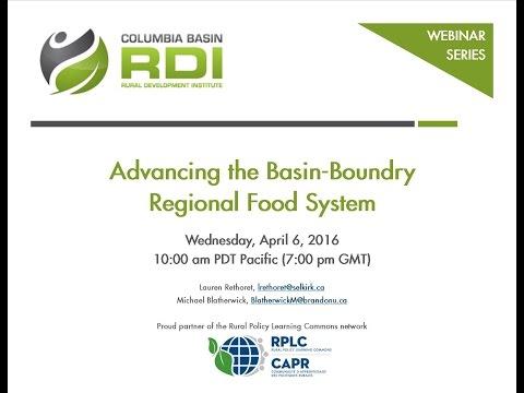 WEBINAR - Advancing the Basin Boundary Regional Food System