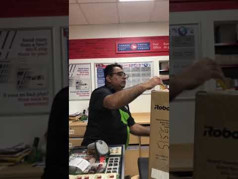 Canada Post Worker Threaten Customer