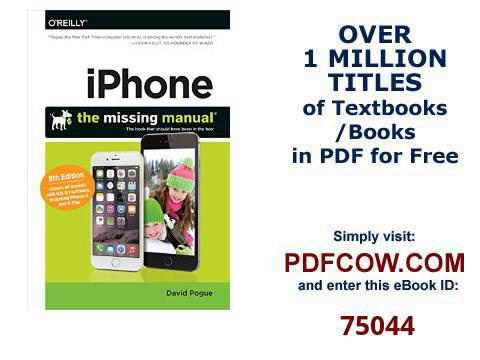 iPhone The Missing Manual Missing Manuals