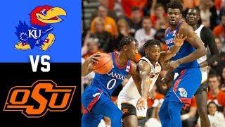 #3 Kansas vs Oklahoma State Highlights 2020 College Basketball