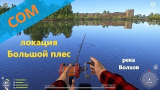 Русская рыбалка 4 река Волхов Сом выше островов