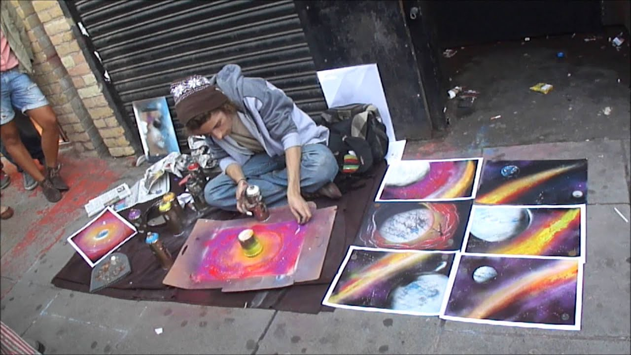 art spray painted while u wait by talented street artist camden. Black Bedroom Furniture Sets. Home Design Ideas