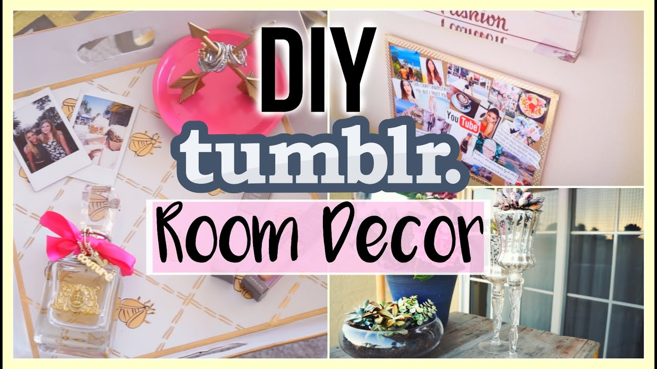 How To Make Your Room Tumblr Diy Tumblr Room Decor Youtube