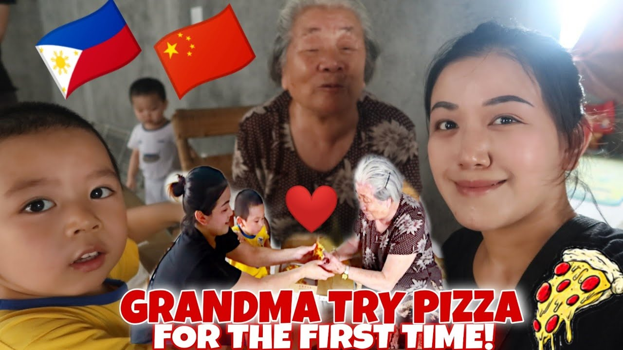 CHINESE GRANDMA TRY PIZZA FOR THE FIRST TIME! (MY PINAY🇵🇭 WIFE BUY HER A PIZZA!)🇨🇳