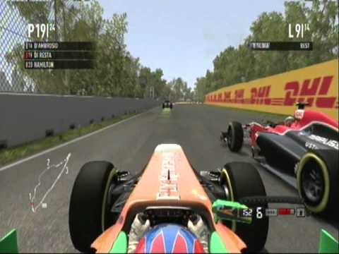 Montreal - Force India - Di Resta - Gameplay - F1 2011 PS3