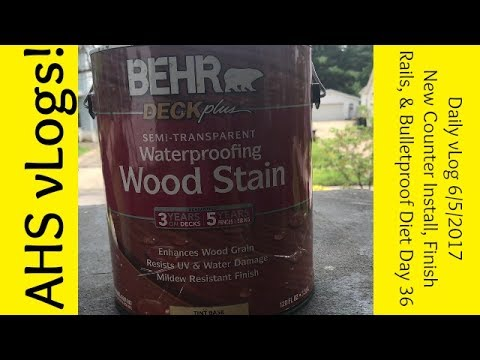 Daily vLog 6/5/2017 Counter Install, Home Depot Run, One Project Finished April Holly Smith