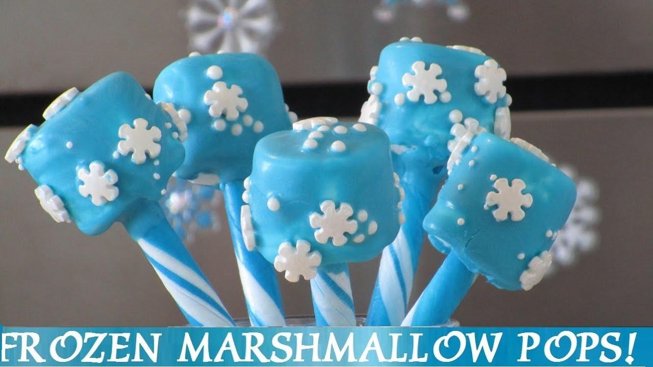 Frozen Snowflake Marshmallow Pops Diy 4 Easy