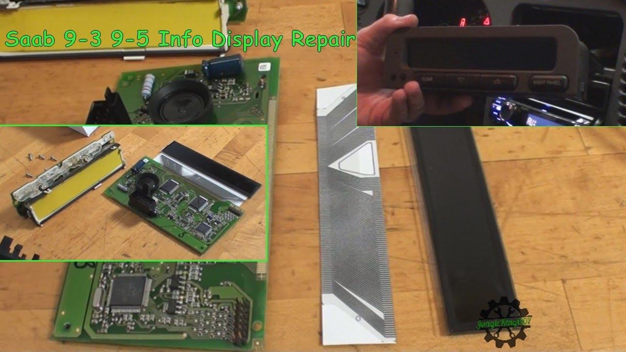 hight resolution of saab display wiring wiring diagram used saab 9 3 9 5 information display repair new ribbon