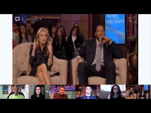 """Google+ Hangout for """"LIVE with Kelly and Michael"""""""