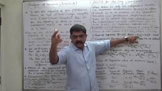 ANOVA - 1 Basics - Steps For Calculation - One Way Classification