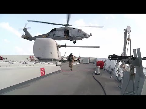 NATO's counter-piracy flagship tests readiness