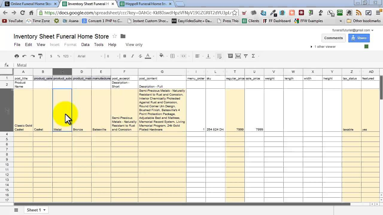 Worksheets Home Inventory Worksheet inventory sheet funeral home store youtube store