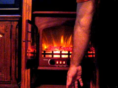 quality craft electric fireplace stove - YouTube