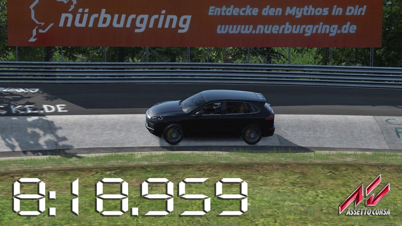 Assetto Corsa - 2016 Porsche Cayenne Turbo S - Nürburgring Nordschleife Lap  Times - 8:18 959