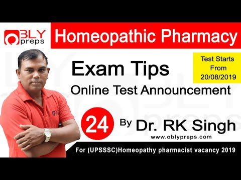 Exam Tips & Guide | | Homeopathy | Homeopathy pharmacist vacancy 2019 Lectures