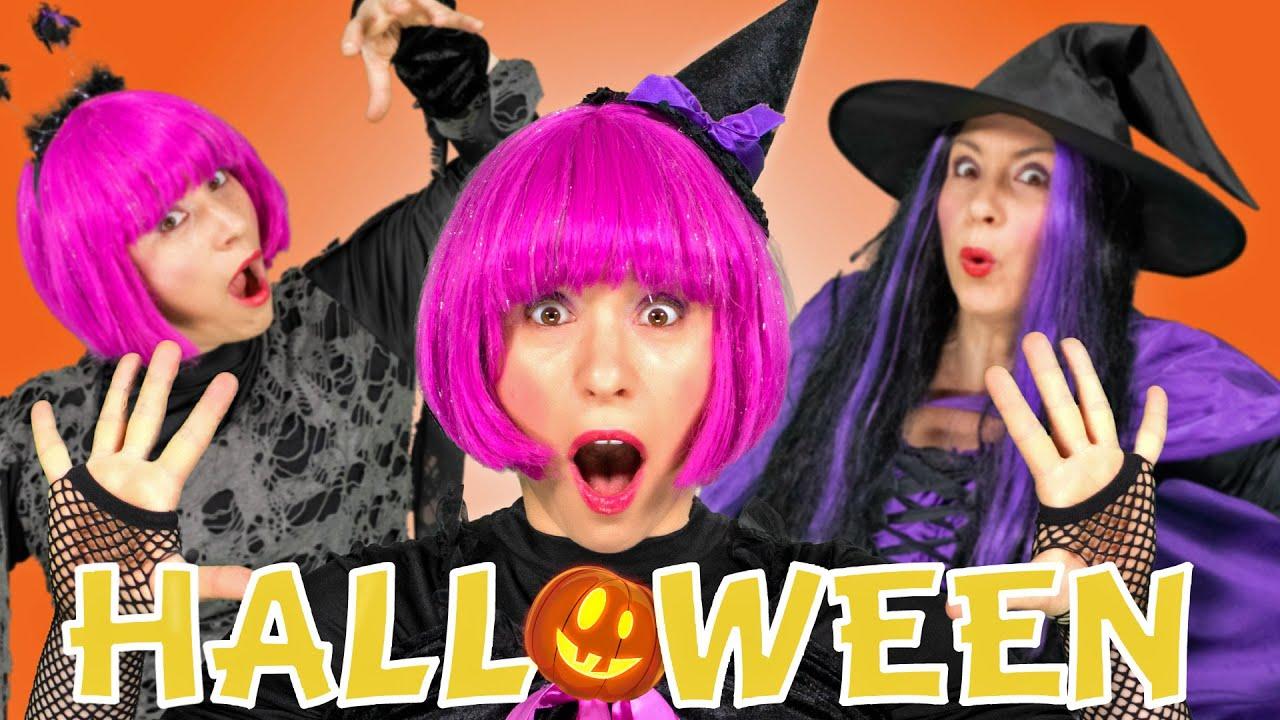 Ten Little Witches | Halloween Kids Songs and Nursery Rhymes | Debbie Doo