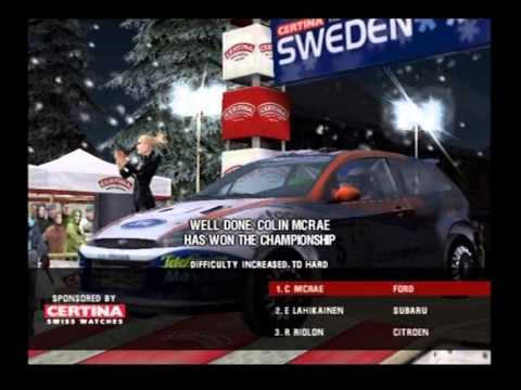 colin mcrae rally 3 ps2 final podium 1st place youtube. Black Bedroom Furniture Sets. Home Design Ideas