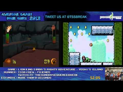 AGDQ 2013 Bonus Stream - Game 29 - Yoshis Island and Ape Escape