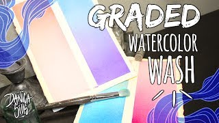 How to Paint a Graded Wash in Watercolors ♦ Watercolor Basics Tutorial