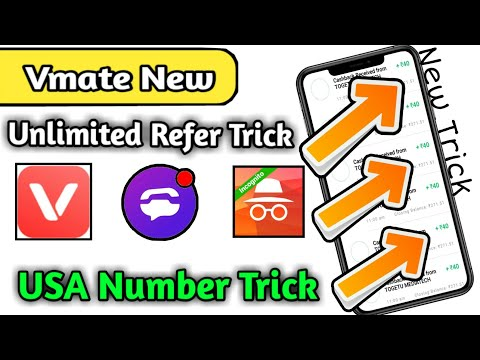 New Unlimited Refer Script | Vmate New Unlimited Trick With USA Number's | Unlimited Trick 🔥