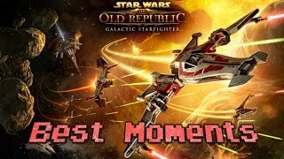 Star Wars: The Old Republic - GALACTIC STARFIGHTER BEST MOMENTS & GAMEPLAY