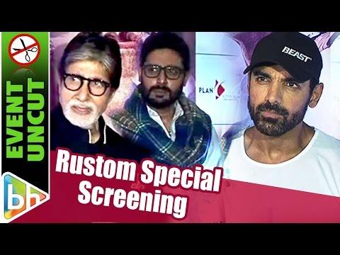 EVENT UNCUT: Rustom Special Screening | Amitabh Bachchan | John Abraham | Abhishek Bachchan