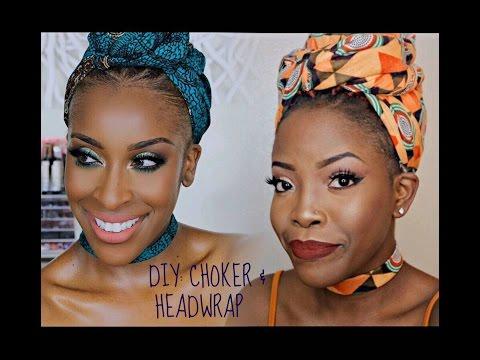 DIY: Jackie Aina Inspired Ankara Choker and HeadWrap