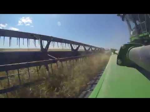 Nebraska Wheat Harvest 2015 - GoPro