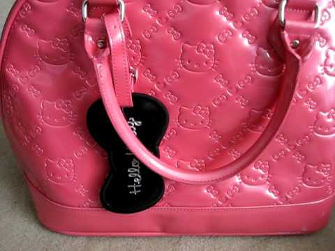 Hello Kitty Loungefly Patent Handbag/totebag Review