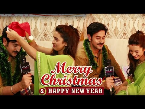 Shivani Surve & Shashank Vyas Wish Merry Christmas & Happy New Year 2017 | Telly Reporter