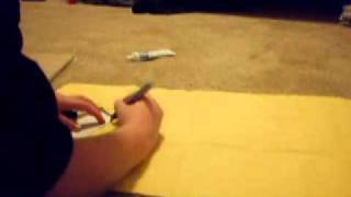 How to make a naruto shuriken pouch part 1