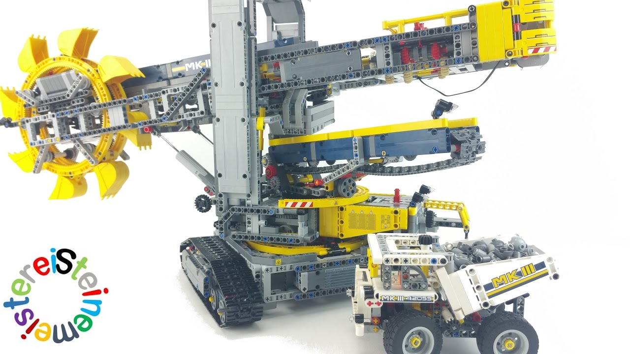 lego technic 42055 schaufelradbagger review youtube. Black Bedroom Furniture Sets. Home Design Ideas