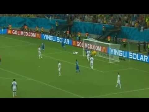 Mario Balotelli Header Goal England-Italy 1-2 (World Cup 2014)