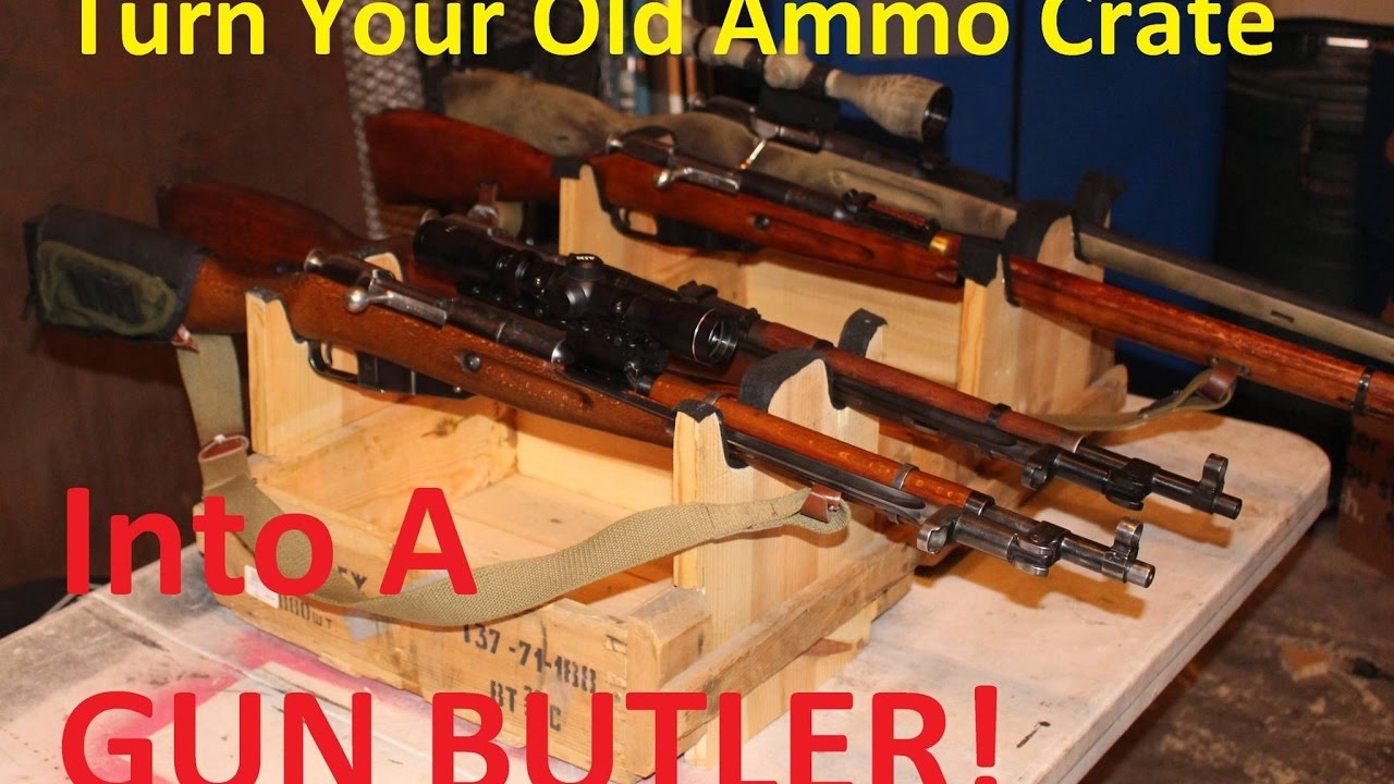 Turn An Old Ammo Crate Into A Gun Butler