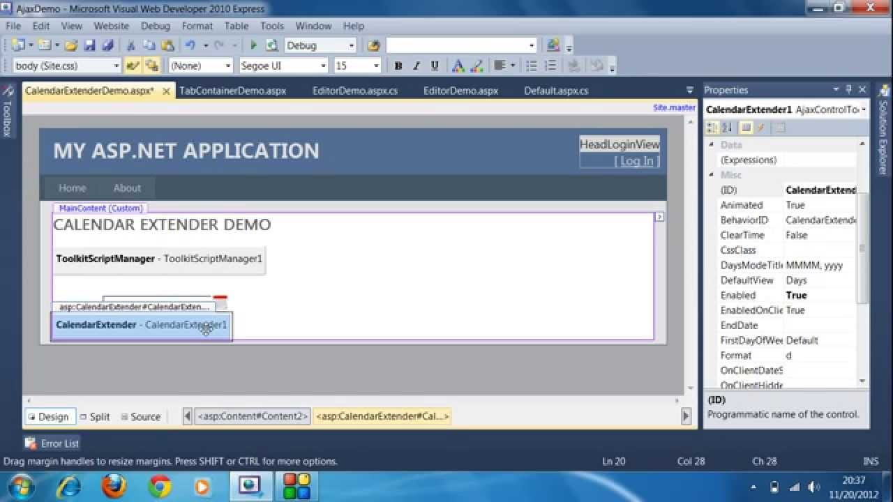 (Beginners) Asp Net Ajax Tutorial - Calendar Extender Control