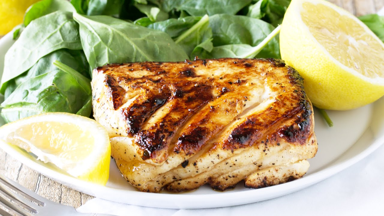 How to make Grilled Halibut with Honey and Lemon - YouTube