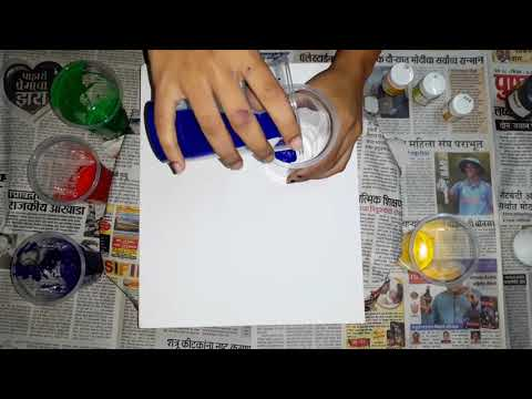 Abstract painting on canvas | Acrylics painting | Art duniya