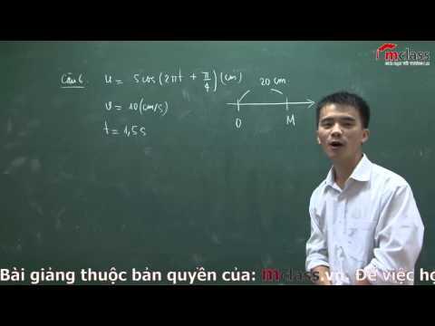 Vật lí 12 - Luyện giải bài tập chuyên đề Sóng cơ học trên MClass.vn