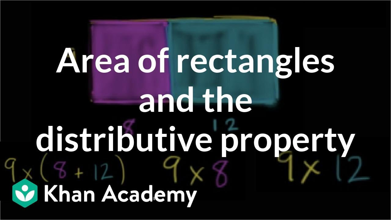 hight resolution of Area and the distributive property (video)   Khan Academy