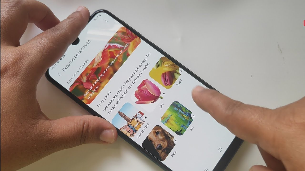 How To Set Automatic Changing Lock Screen Wallpaper In Samsung Galaxy M30s Youtube