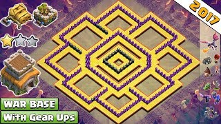 BEST! NEW Anti 2 Star Town Hall 8 (Th8) Clan-War Base 2017 With Gear Ups Vs Anti Everythi 2017 - COC