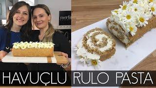 PınarSdesserts ile Havuçlu Rulo Pasta yaptık | Merlin Mutfakta Yemek Tarifleri