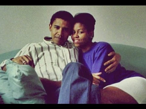 Young Barack and Michelle in Africa