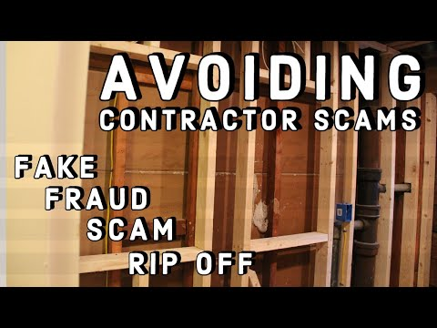 How To Recognize Contractor SCAMS