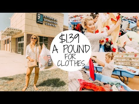 GOODWILL OUTLET SHOP WITH ME & HAUL | SHOPPING VLOG 2018
