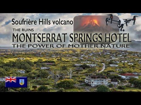 Spring Hotel Montserrat Ruins ~ EXCLUSION ZONE ~ Volcano ~ UAV Drone Caribbean ~ WeBeYachting.com
