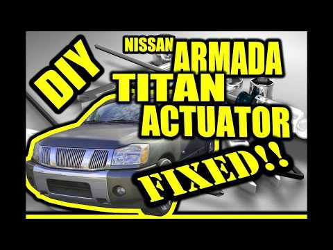 Easy Diy Nissan Armada Titan Actuator Knocking Clicking Fix Youtube